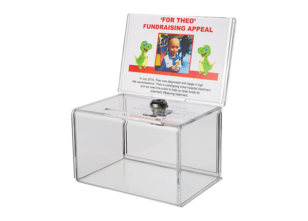 Acrylic A6 Donation Box