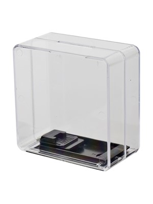 M75 Clear Square Money Box