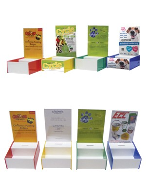 PB4 A5 Display Box with Leaflet display