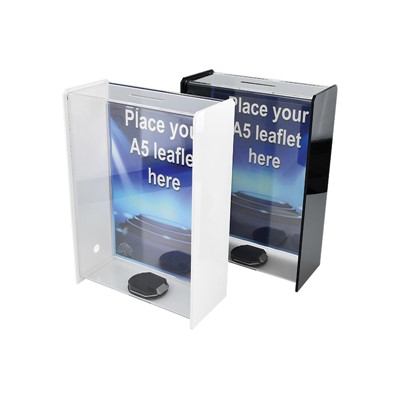 SDF10 Acrylic Interchangable Collection Box Clear