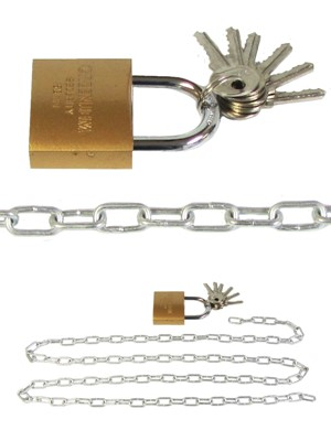 Large Security Chain with Padlock 1.5 metre